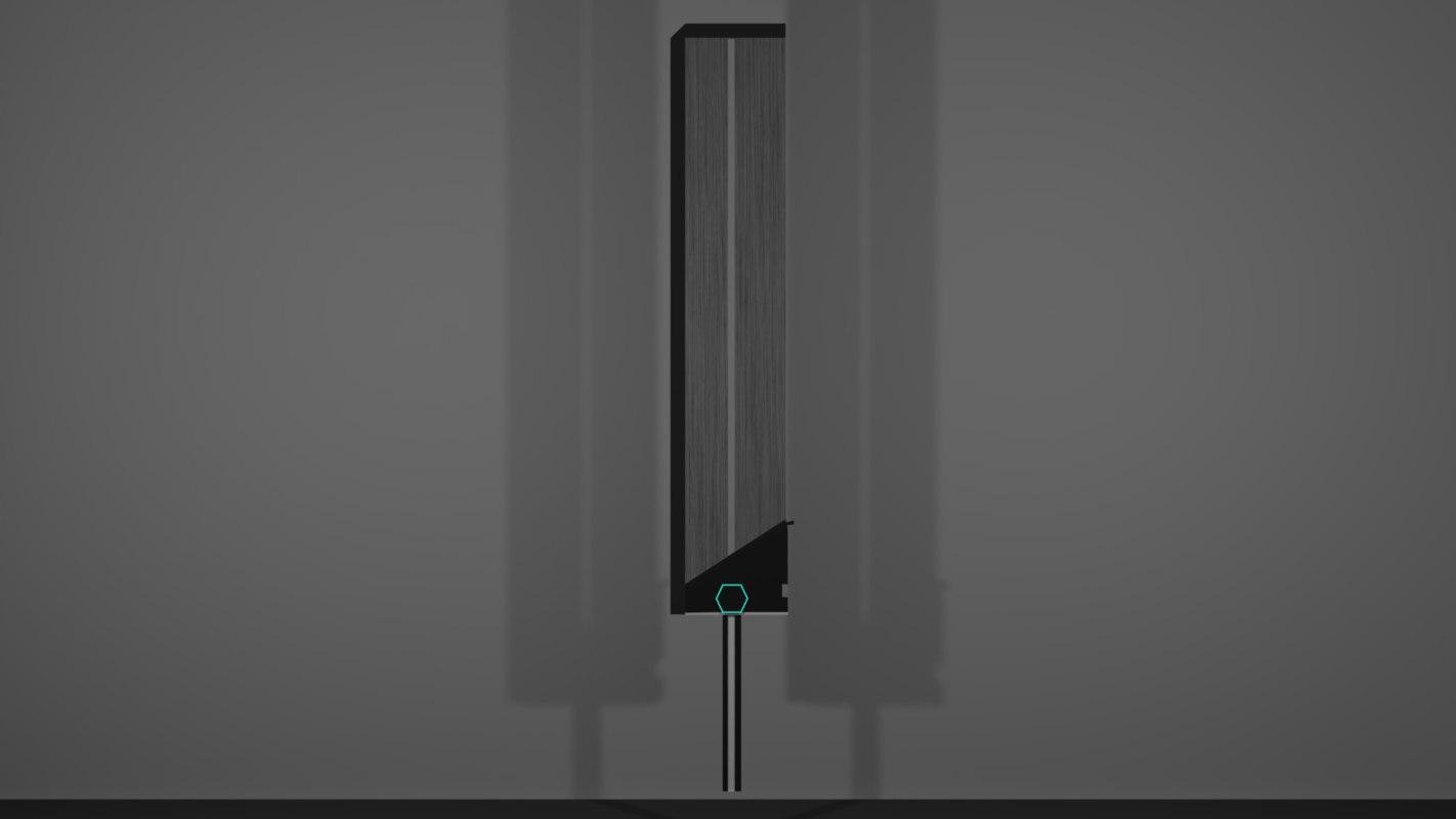 3D great sword techno model