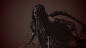 3D laura creature evil fan art