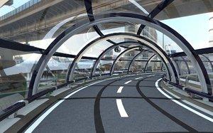 glass tunnel 3D model