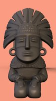 3D model aztec statue