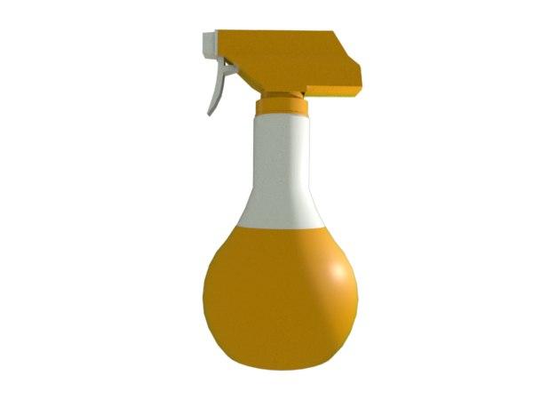 orange sprayer 3D model