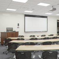 Photorealistic Classroom Architecture 006 V4