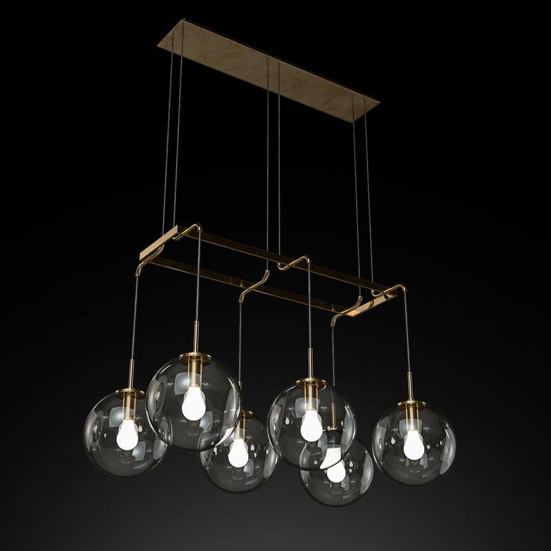languedoc linear chandelier 48 model
