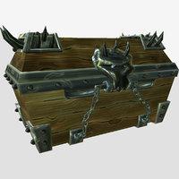 3D model chest games handpaint