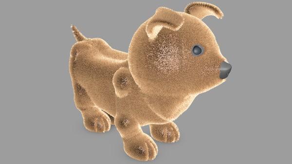 3D dog fur animation