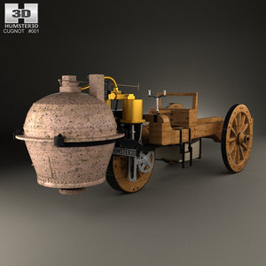 3D model cugnot fardier vapeur