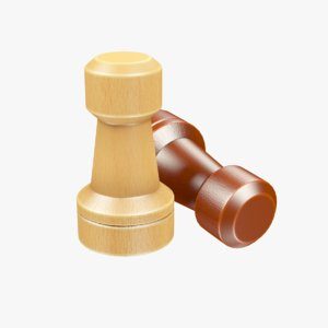 chess rook 3D model