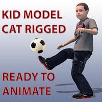 3D child cat