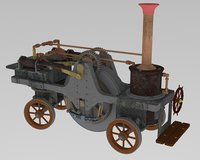 sterling traction engine 1859 3D