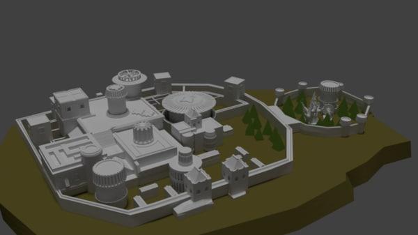 3D castle winterfell model