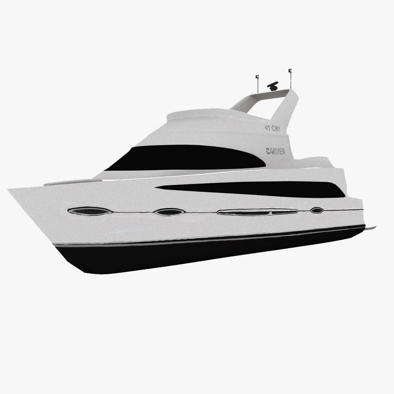3D model carver 41 yacht