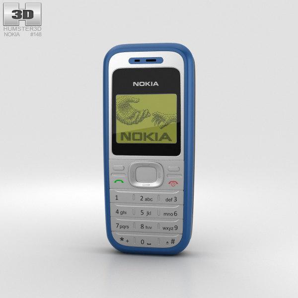 nokia 1200 blue 3D model