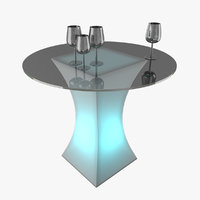 3D cocktail table