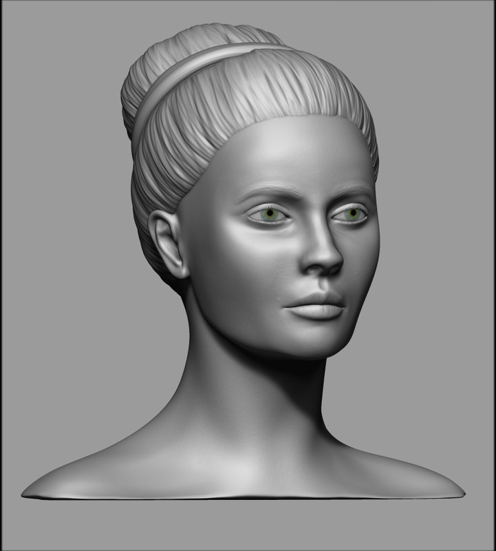 3D model realistic female head