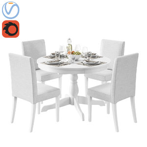 table ingatorp ikea henriksdal 3D model