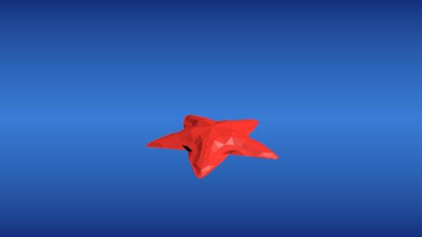 sea star 3D model