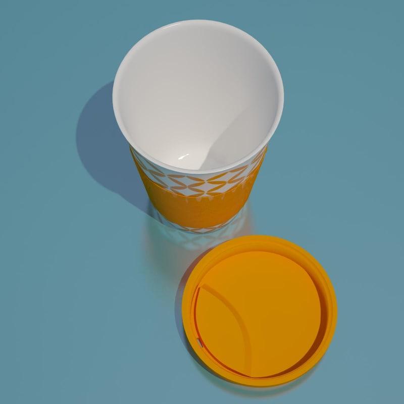3D ceramic cup coffee model