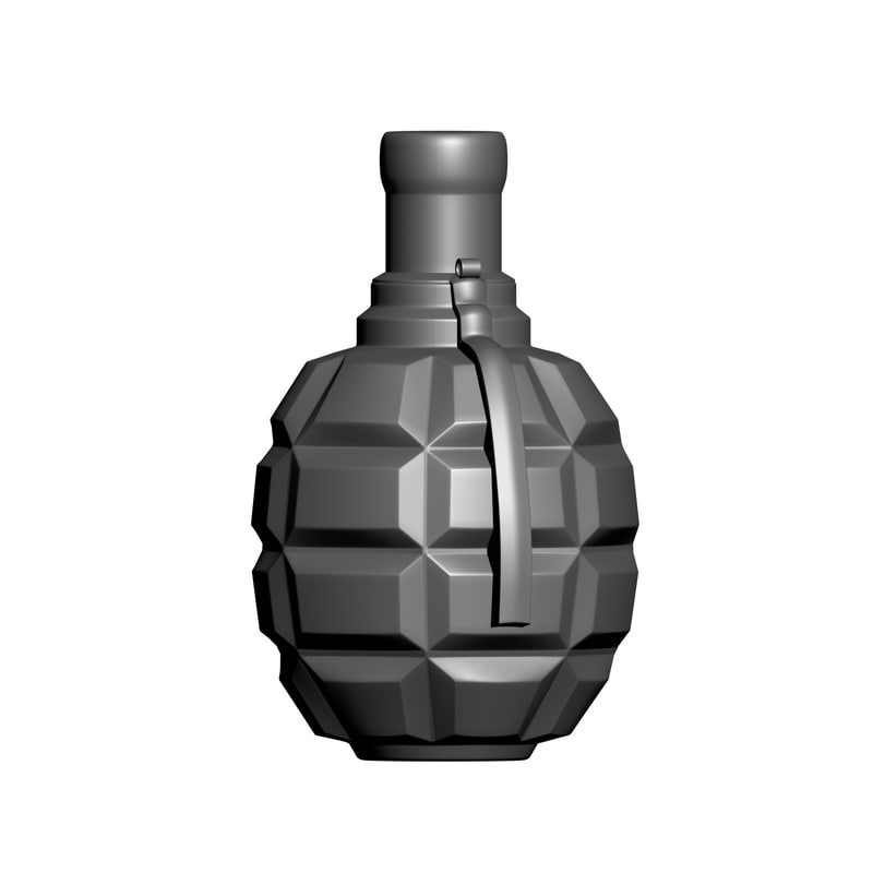bottle grenade printing model