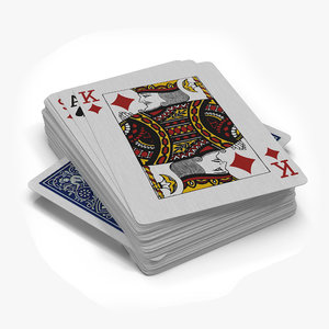 54 playing cards 3D