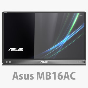3D model asus zenscreen mb16ac