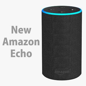 amazon echo new 3D model