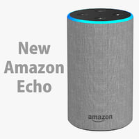 New Amazon Echo 2018 Heather Gray Fabric