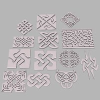 celtic ornament pack 1 model