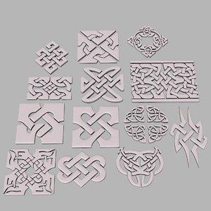 celtic ornament pack 1 model