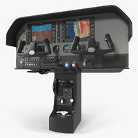 3D light airplane control panel