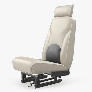3D light airplane pilot seat