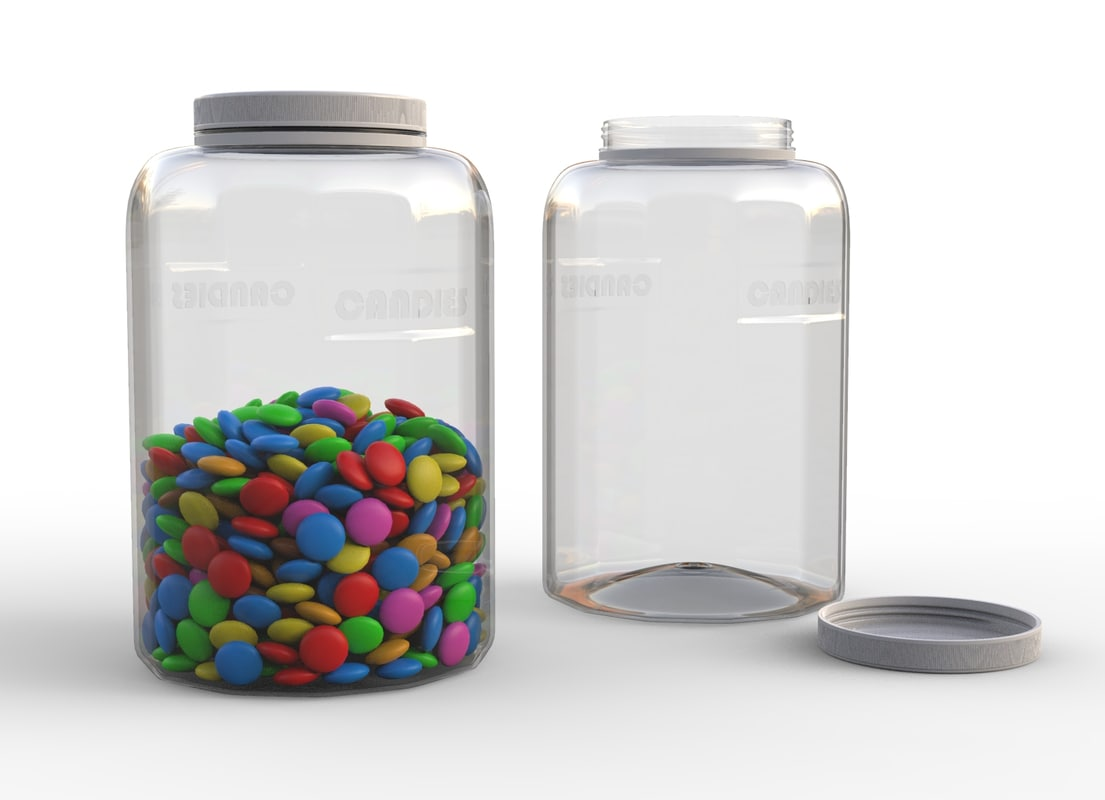bottle candies 3D model