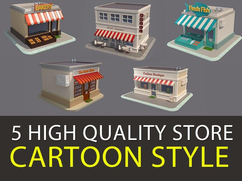 3D model shop v4