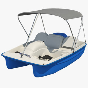 pedal boat canopy 3D