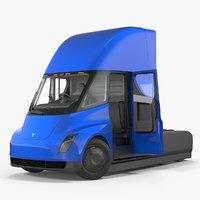 3D tesla semi truck rigged