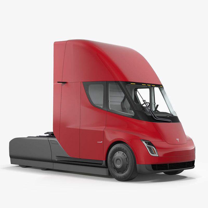 tesla semi truck simple model