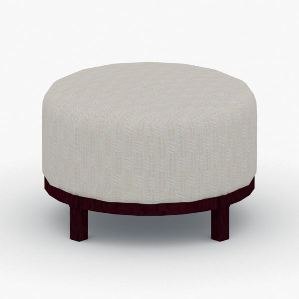 3D interior - ottoman