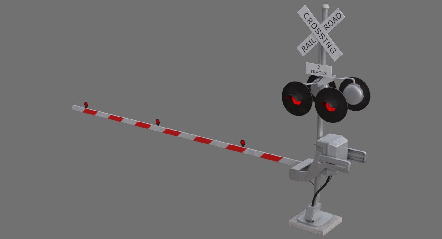 railroad crossing 3D model
