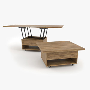 3D - coffee table como model
