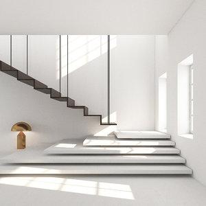 apartment room light studio 3D model