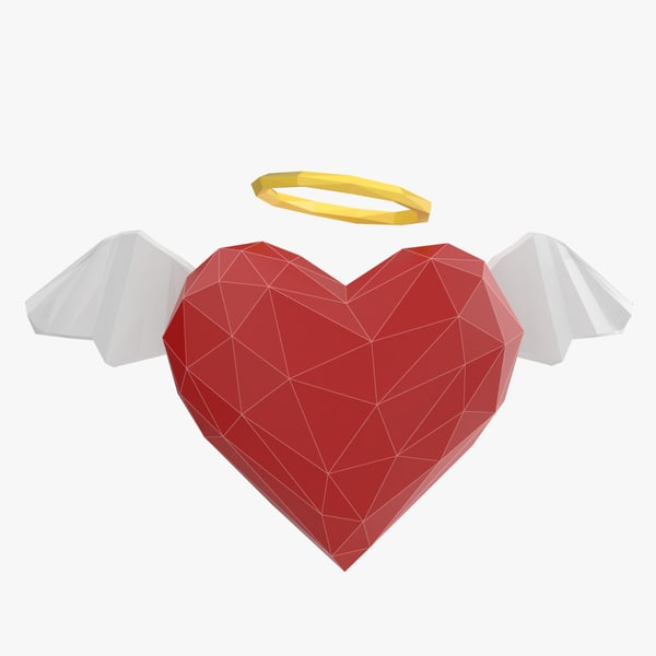 heart angel 3D