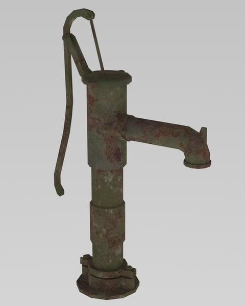 hand pump water 3D model