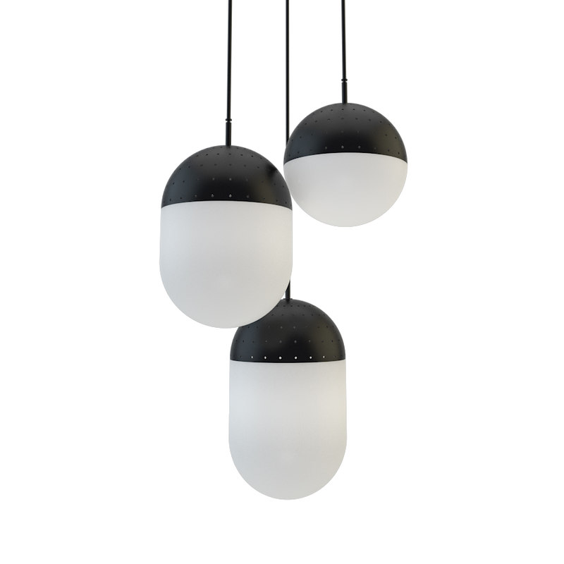 3D pendant light woud model