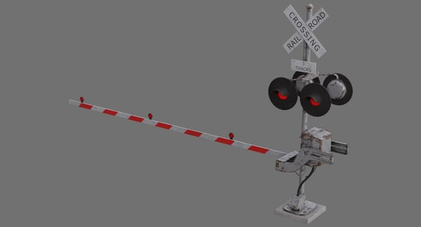 railroad crossing 1b 3D model