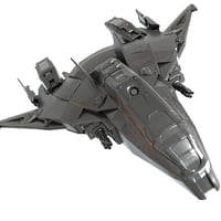 3D model ship space spaceship