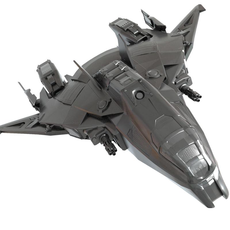 3D model ship space spaceship