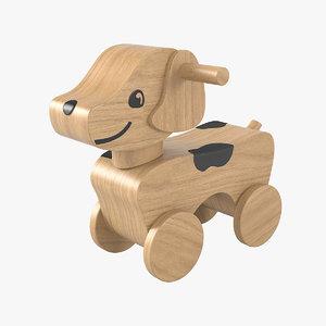 3D dog toy model