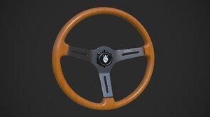 3D royal grip steering wheel model