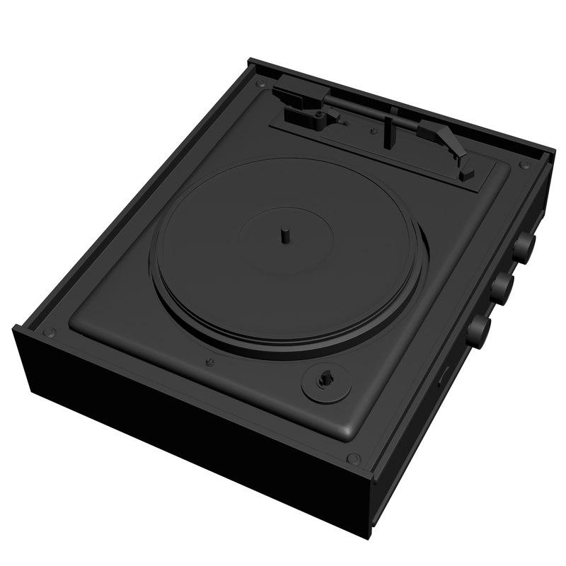 vinyl turntable printing model