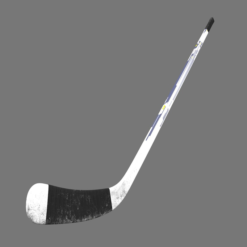 3D professional hockey stick model