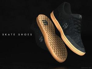 3D model etnies skate shoes -